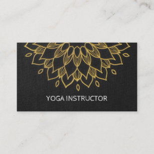Embroidery business cards templates zazzle yoga instructor chic embroidery black gold floral business card colourmoves