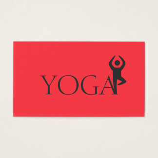 Yoga Instructor, Classes Business Card