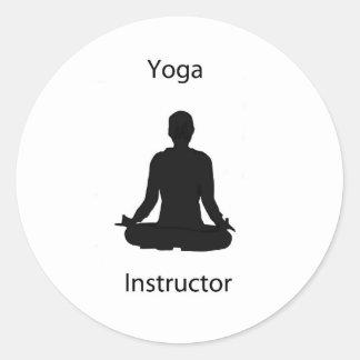 yoga instructor classic round sticker