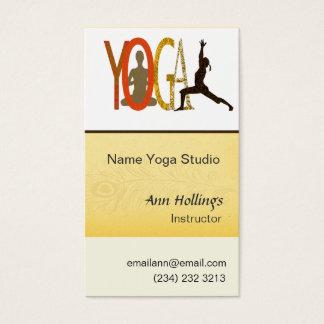 Yoga Instructor & Coach Business Card