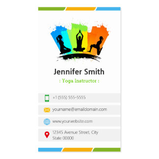YOGA Instructor - Creative Colorful Double-Sided Standard Business Cards (Pack Of 100)
