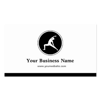 YOGA Instructor Fitness Company - Simple Elegant Double-Sided Standard Business Cards (Pack Of 100)