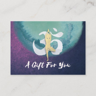 YOGA Instructor Gift Certificate YOGA Pose OM Sign