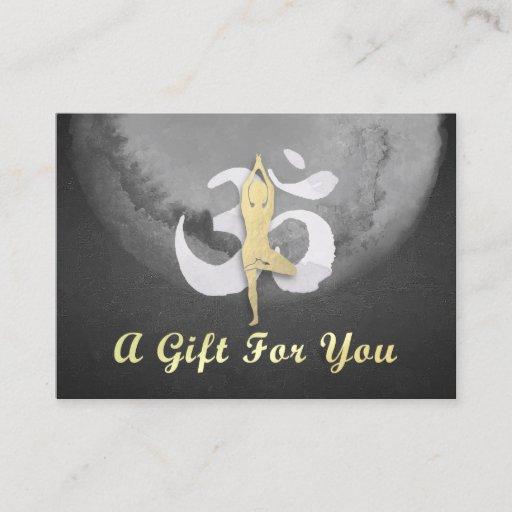 YOGA Instructor Gift Certificate YOGA Pose OM Sign