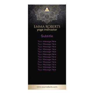 Yoga Instructor Gold Mandala Lotus Elegant Black Rack Card