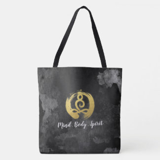 Yoga Instructor Gold Meditation Posture Zen Symbol Tote Bag