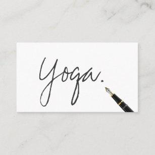 Yoga instructor business cards templates zazzle yoga instructor handwritten script elegant business card colourmoves