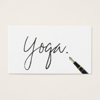 Yoga instructor Handwritten Script Elegant Business Card