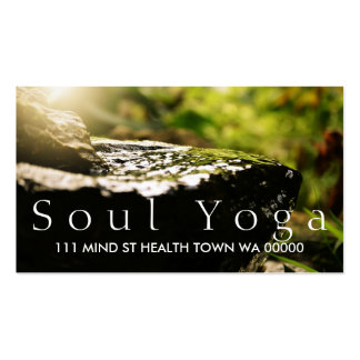 YOGA Instructor Health Spirit Meditation Business Card Templates