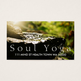 YOGA Instructor Health Spirit Meditation Business Card
