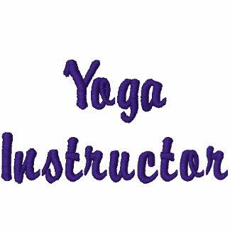Yoga Instructor Ladies Embroidered Zip Hoodie