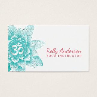 Yoga Instructor Lotus Flower & Om Sign Business Card
