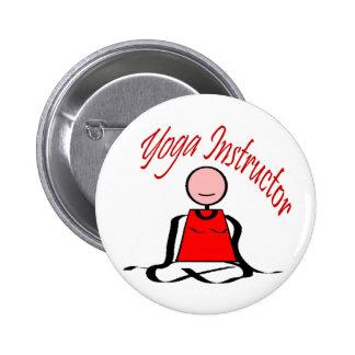 Yoga Instructor---Lotus Postion Stick Figure Pinback Buttons