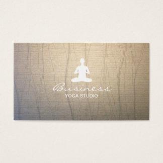 Yoga Instructor Meditation Elegant Zen Background Business Card