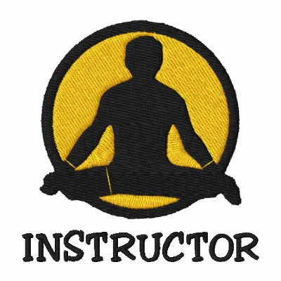 Yoga instructor men 39 s embroidered polo shirt polo zazzle for Custom embroidered polo shirts no minimum order