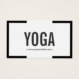 Yoga Instructor Modern Bold Border Professional Business Card