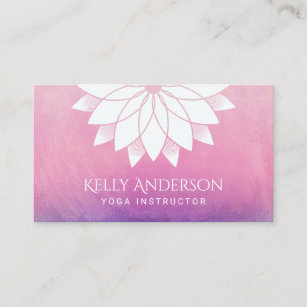 Yoga instructor business cards templates zazzle yoga instructor modern lotus floral mandala business card colourmoves