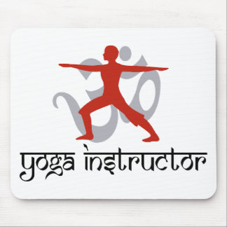 Yoga Instructor Mouse Pad