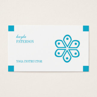 Yoga Instructor Personal Trainer Business Card