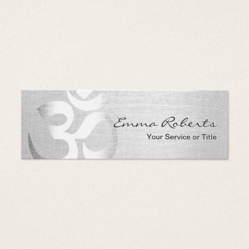 Yoga Instructor Silver Om Symbol Mini Mini Business Card