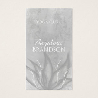 Yoga Instructor Stylized Lotus Flower Gray Card