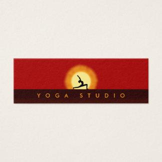 Yoga Instructor Sunrise Pose Skinny Business Cards