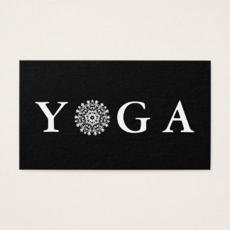 Yoga Instructor Vintage Style Business Card