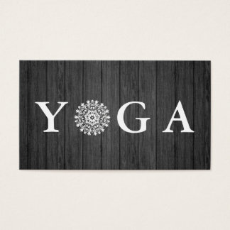 Yoga Instructor Vintage Style Wodden Business Card