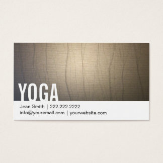 Yoga Instructor Zen Background Bold Text Business Card