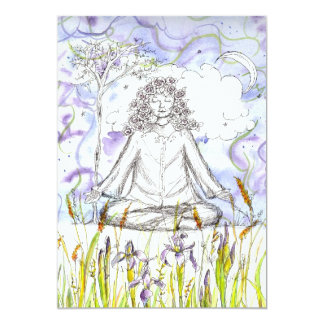 Yoga Invitation Zen Meditation Botanical Floral