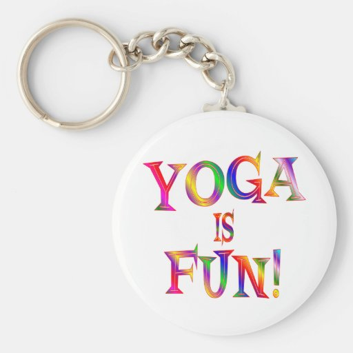 Yoga is Fun Keychain