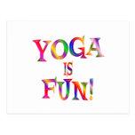 Yoga is Fun Postcards