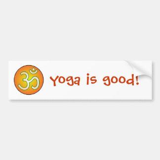 Yoga is good! bumper sticker