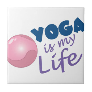 Yoga Is Life Small Square Tile