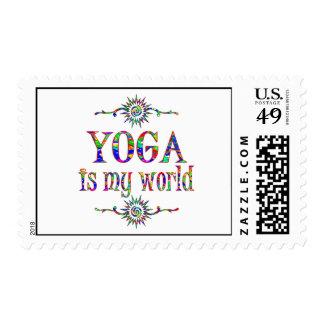 Yoga is My World Stamp