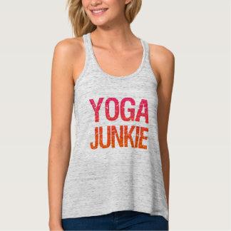 Yoga Junkie funny women's tank