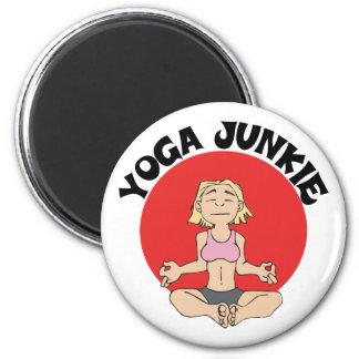 Yoga Junkie Gift 2 Inch Round Magnet