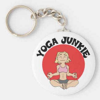 Yoga Junkie Gift Basic Round Button Keychain