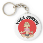Yoga Junkie Gift Keychain