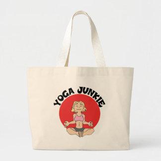 Yoga Junkie Gift Large Tote Bag