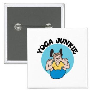 Yoga Junkie Men's Pinback Button