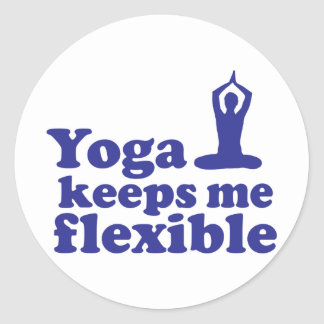 Yoga Keeps Me Flexible Classic Round Sticker