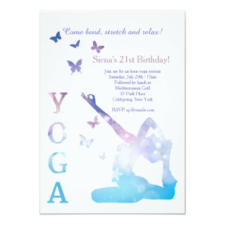 Yoga invitations announcements zazzle yoga king pigeon invitation stopboris Images
