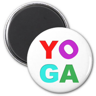 Yoga letters 2 inch round magnet