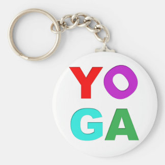 Yoga letters keychains