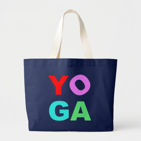 Yoga letters large tote bag