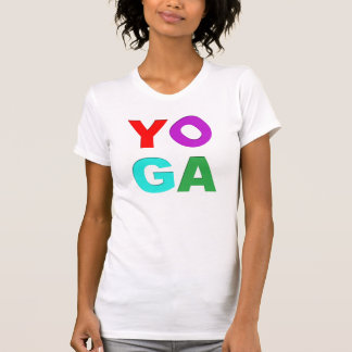 Yoga letters tank tops