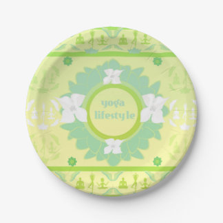 yoga lifestyle Paper Plate