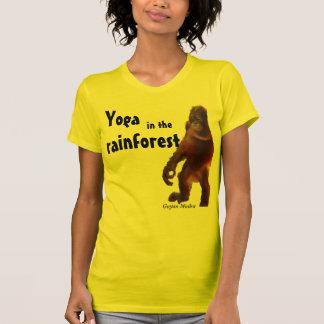 Yoga linda con los animales camisetas