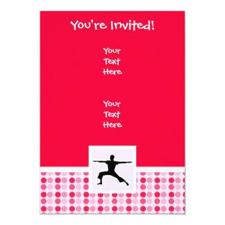 Yoga linda invitación 12,7 x 17,8 cm